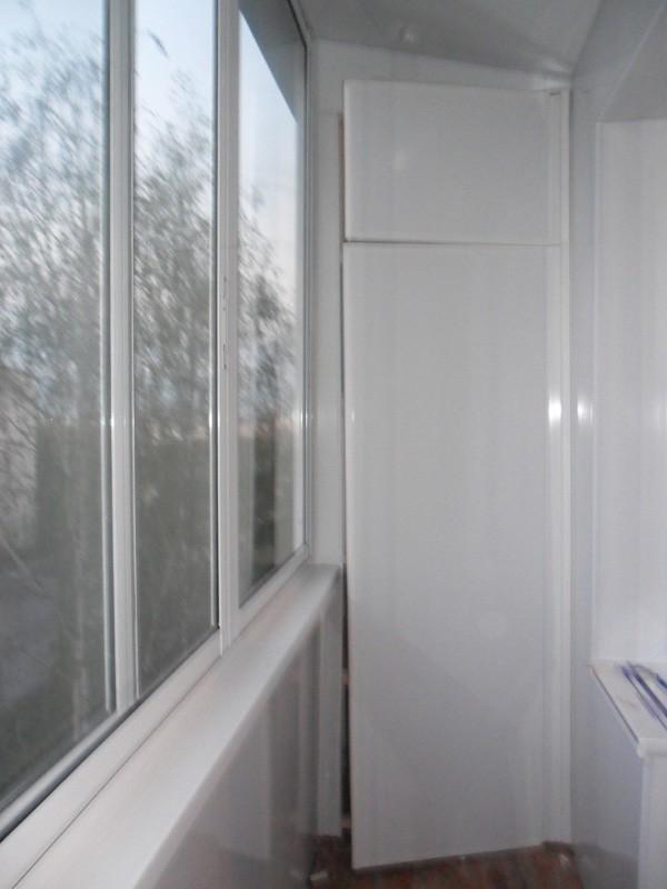 Внутренняя отделка балкона, лоджий пластиковыми панелями под.